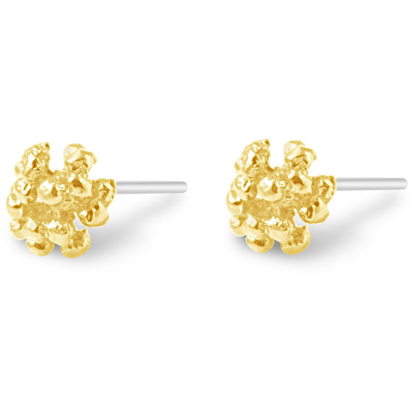 Gold Ivy Cluster Stud Earrings