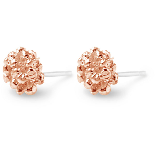 Rose Ivy Cluster Stud Earrings