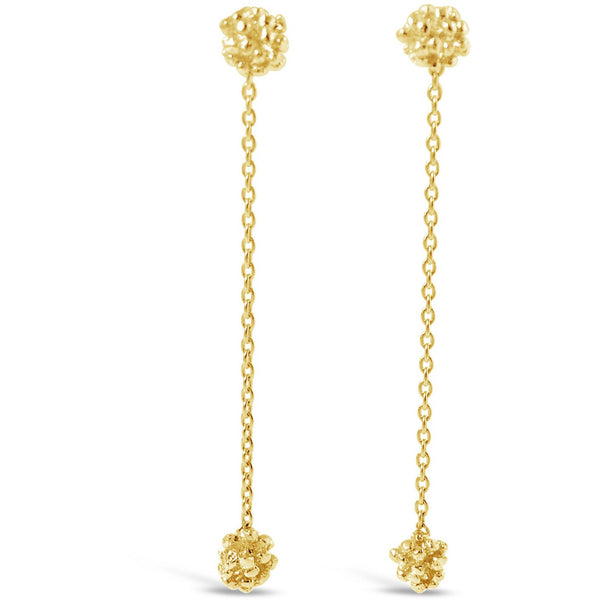 Gold Ivy Cluster Drop Earrings - kim baker