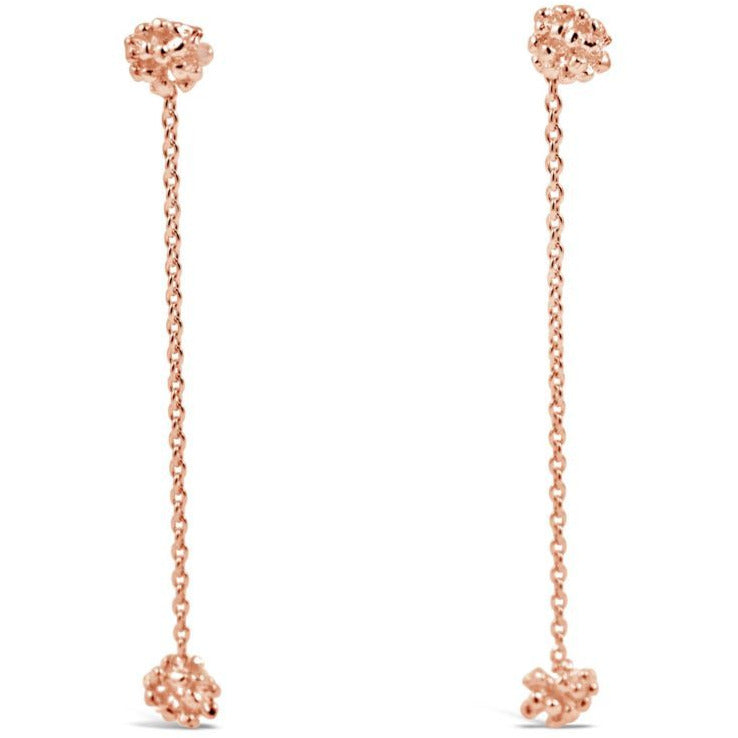 Rose gold Ivy Cluster Drop Earrings
