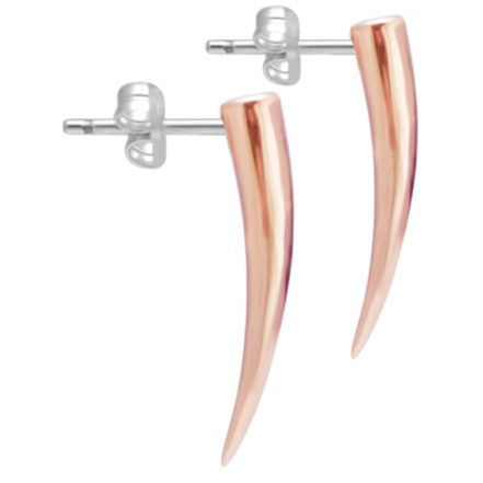 Rose gold tusk earrings