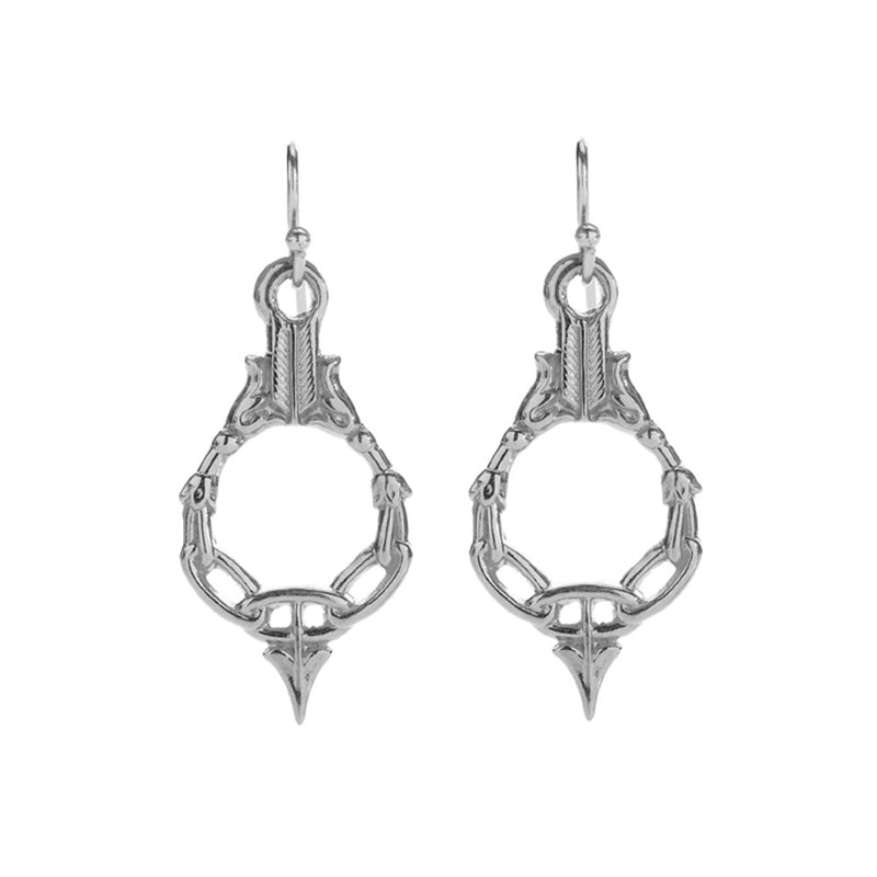 Silver Artemis Earrings - kim baker