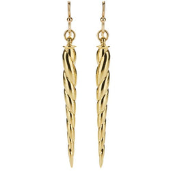 Gold Horn Earrings - kim baker