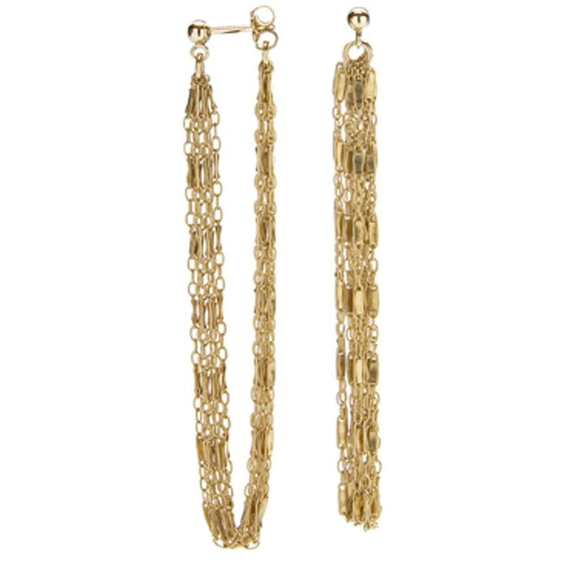 Gold Lace Hoop Earrings - kim baker