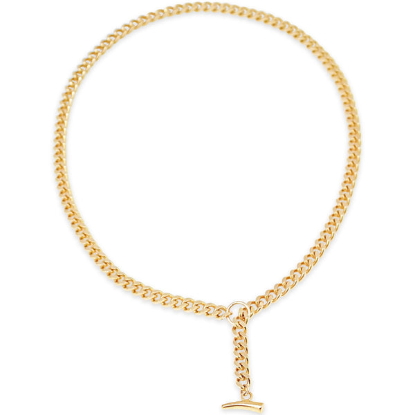 Gold Cuban Link Necklace - kim baker