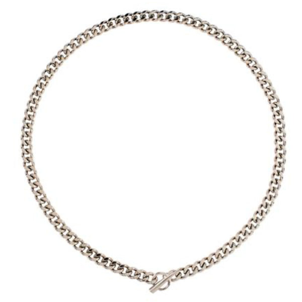 Silver Cuban Link Necklace - kim baker