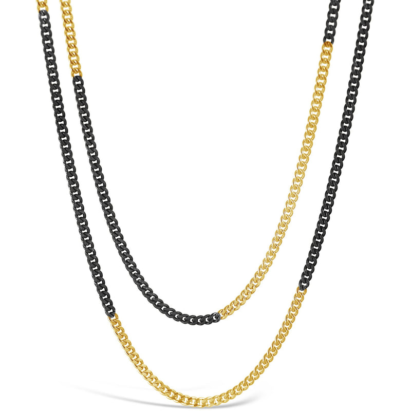 Oxidized Striated Chain Necklace - kim baker