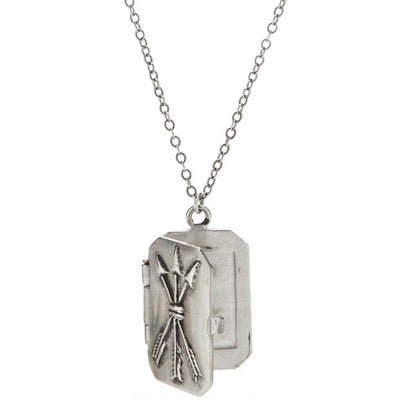 Arrow Locket Necklace - kim baker