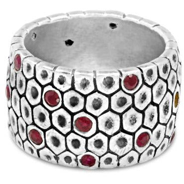 Ruby Honeycomb Ring - kim baker