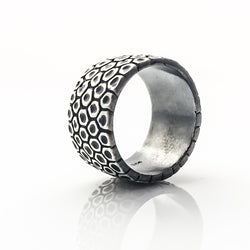 Silver Honeycomb Ring - kim baker