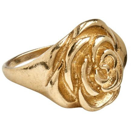 Gold Peony Ring