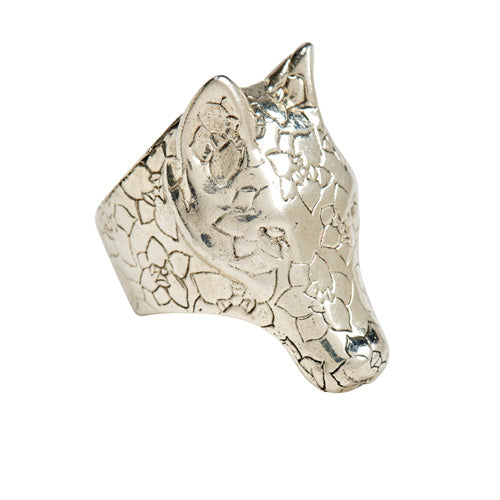 Silver Wolf Ring - kim baker