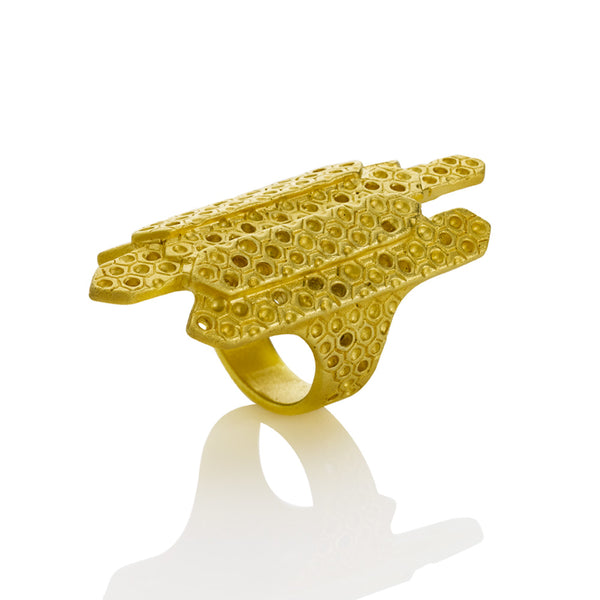 Gold Fortress Ring