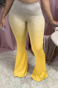 PLUS SIZE FLARED MULTIPLE COLOR PANTS #1