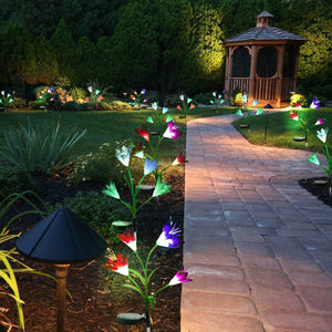 New-Upgraded Artificial Lily Solar Garden Stake Lights(2 Packs of 8 Lilies) Buy two or more free shipping