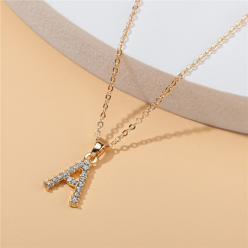 New Fashion Gold A-Z 26 Letters Initial Name Necklaces For Women and Men