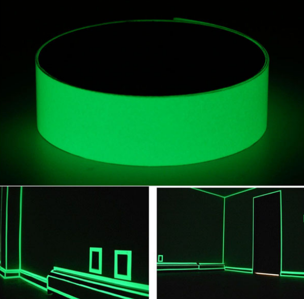 Luminous self-adhesive tape