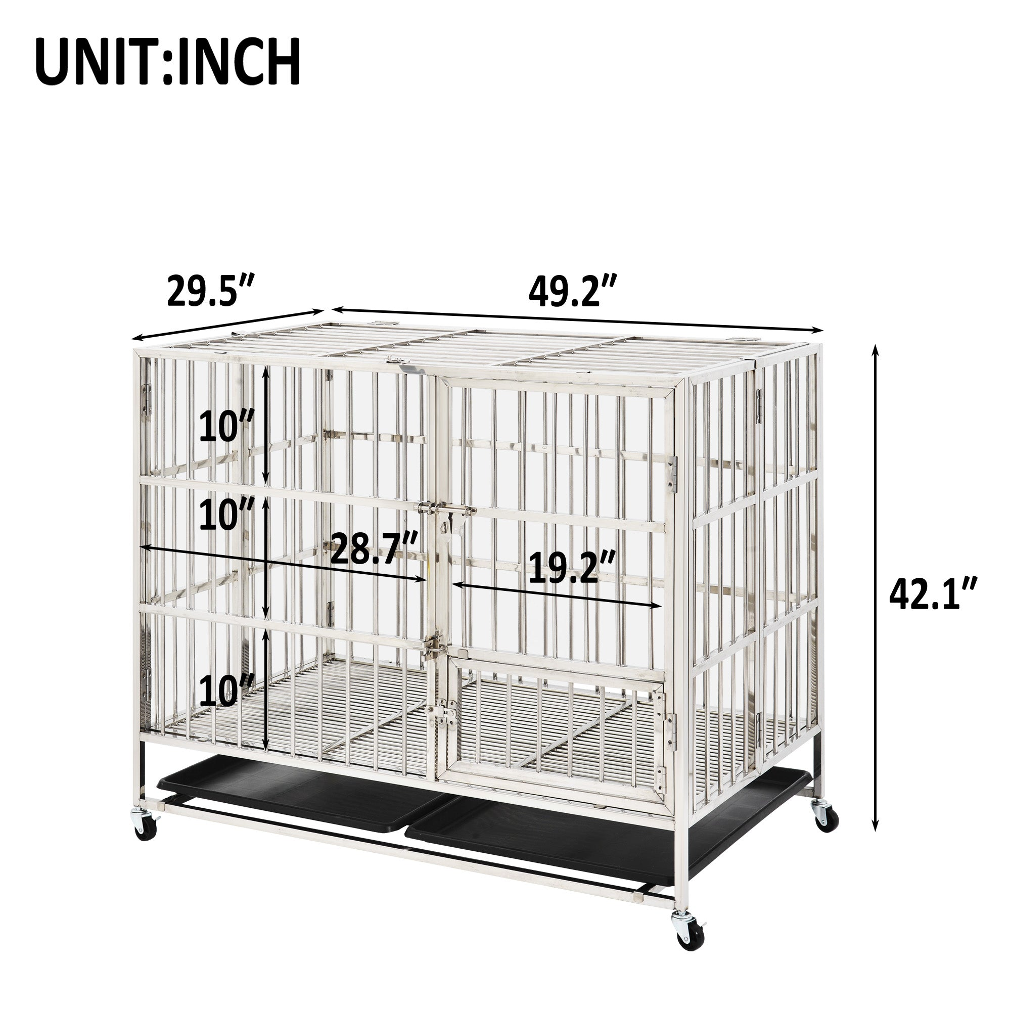Stainless Steel pet crate 49inch
