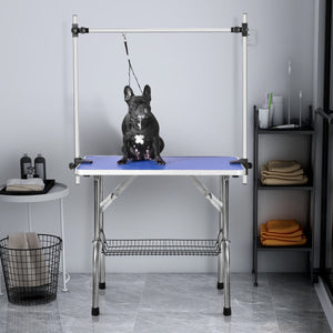 "36"" Folding Dog Pet Grooming Table Heavy Duty Stainless Steel pet dog Cat Grooming Table"