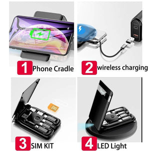 Portable 6 in 1 Multi-functional Wireless Charger Memory Reader Phone Cradle