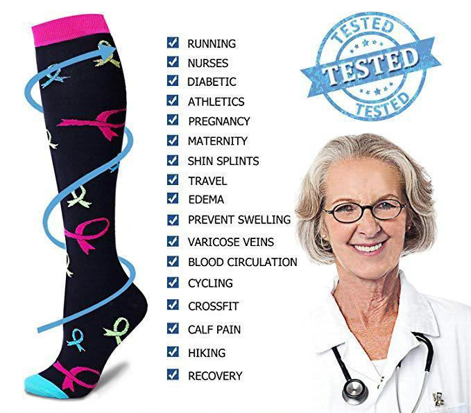Best Compression Socks 7 Pairs for Women & Men-Workout And Recovery/Pack#3