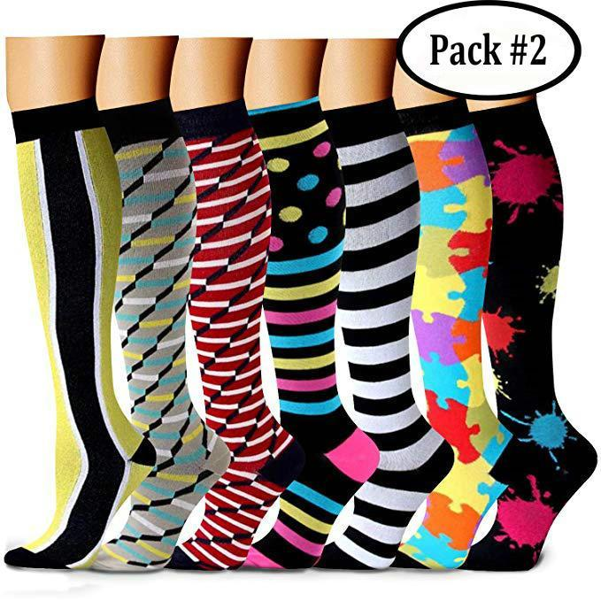 {45% Off Today!} Compression Socks (7/8 Pairs) for Women & Men