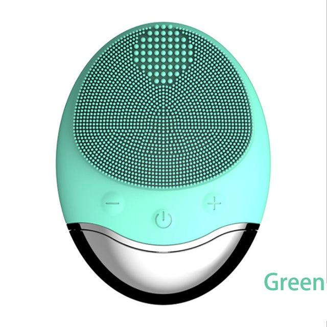 Wireless Charging Waterproof Bamboo carbon Electric Facial Cleansing Brush Silicone Brush