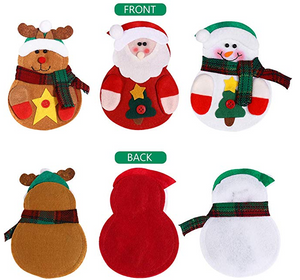 Christmas Suit Dining Table Decorations Set Pockets