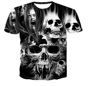 3D printed ghost doll short sleeve T-shirt