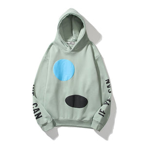 Lucky Me I See Ghosts Letter Hoodie Crew Neck Sweatshirt