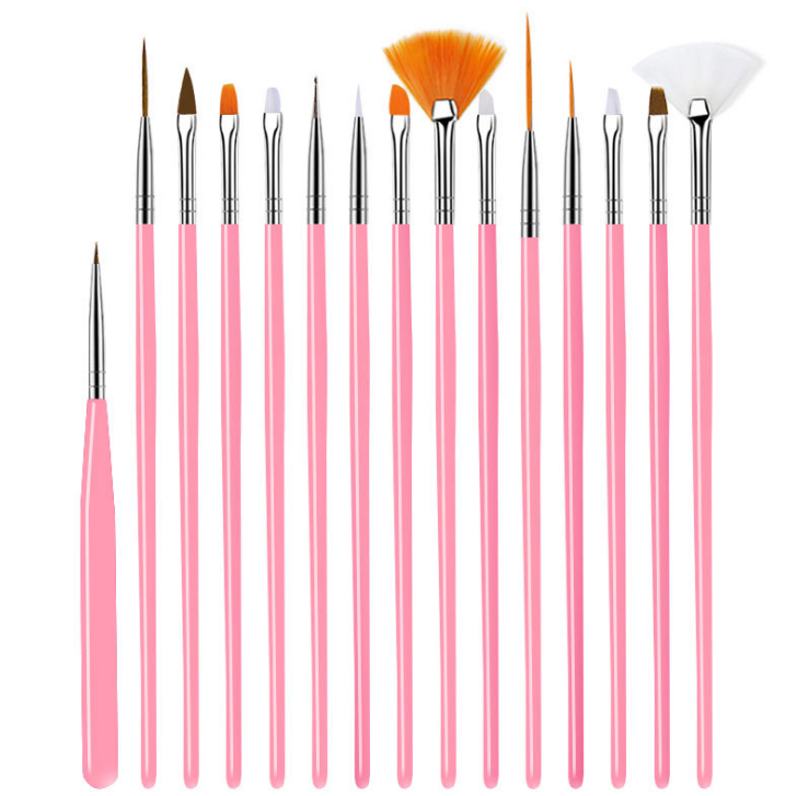 Manicure Gel Brush for Ombre Brush Gradient For Gel Nail Polish Painting Drawing