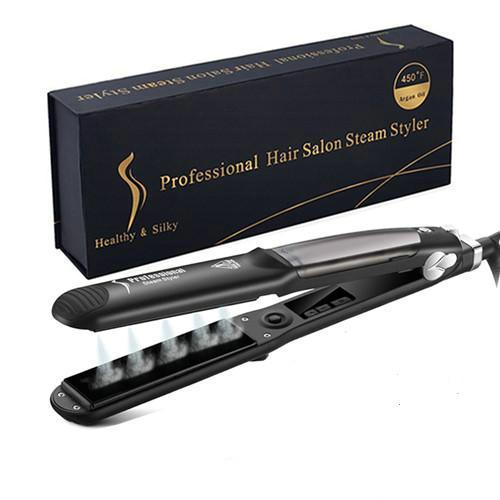 Professional 450F Steam Ceramic Vapor Steam Hair Straightener Iron