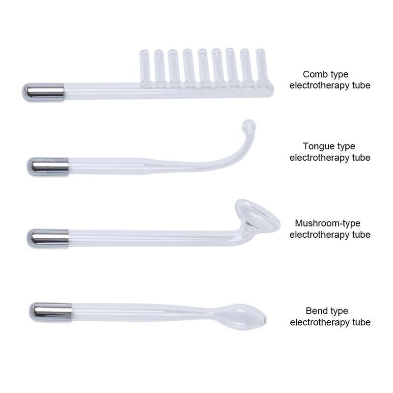 4pcs Replacement Glass Tube for High Frequency Facial Skin Care Wand