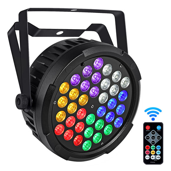 1 Pack  (12 pcs) OPPSK 36x1W Indoor DJ Lighting RGBWAUV Mixed Color Slim LED Par Light for Stage Party Wedding