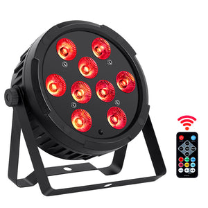 12-Pack, OPPSK 9x4W Indoor DJ Lighting RGBA 4in1 Slim LED Par Stage Light for Party Wedding