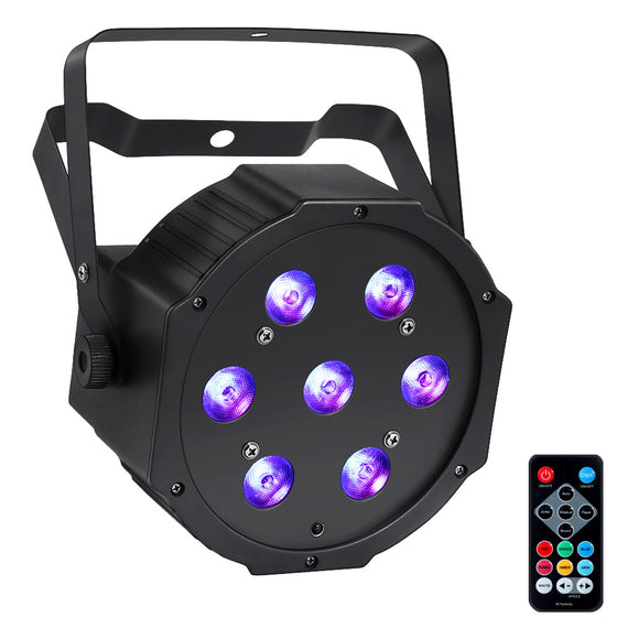 1Pack (8pcs) OPPSK 7x4W RGBW 4in1 Quad Color DMX Wedding Uplight LED Par Light for Stage Lighting Wall Wash