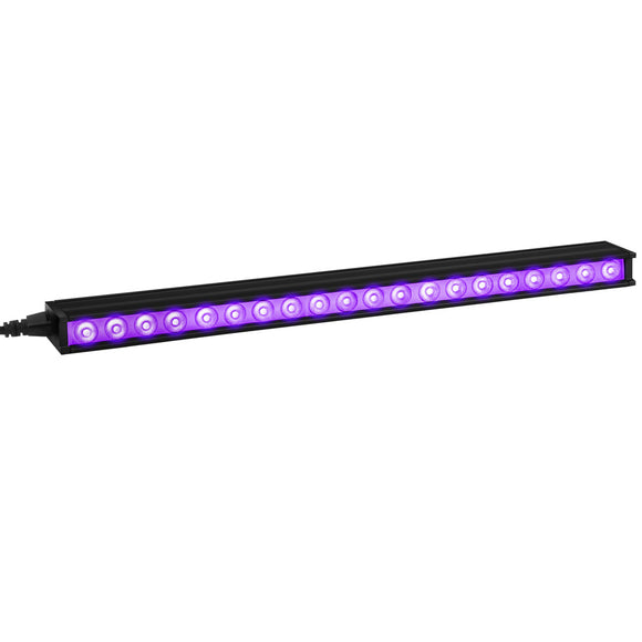 24-Pack, 10W Power Linkable LED Black Light Bar Fixture for Halloween Decor Neon Party