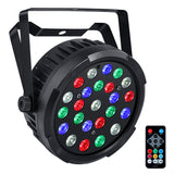 12-Pack, OPPSK 24x1W DJ Lighting RGBW Mixed Color Slim LED Plastic Par Light for Stage Party Wedding Event lighting