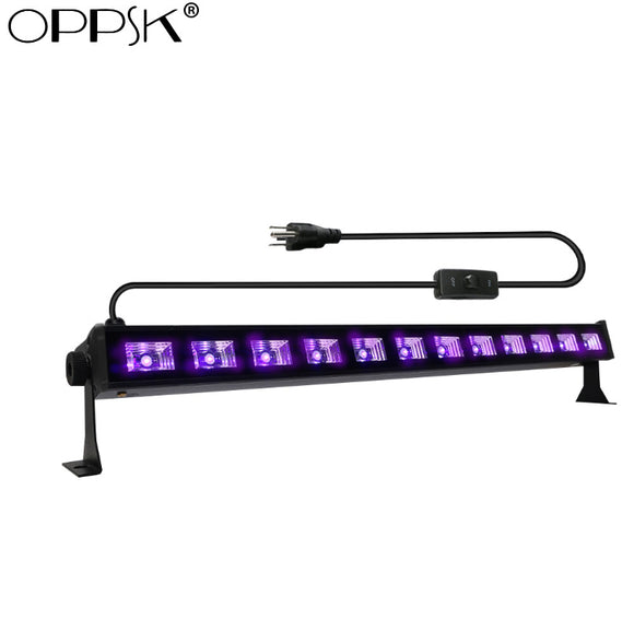 12-Pack, OPPSK 12x3W DJ LED UV Black Light Bar for Glow Party Mini Golf Trampoline Park Hunted House Halloween Decor