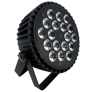 4-Pack, OPPSK 18x15W Silent Operation Slim Stage Light RGBWA 5in1 Aluminum LED Flat Par Light