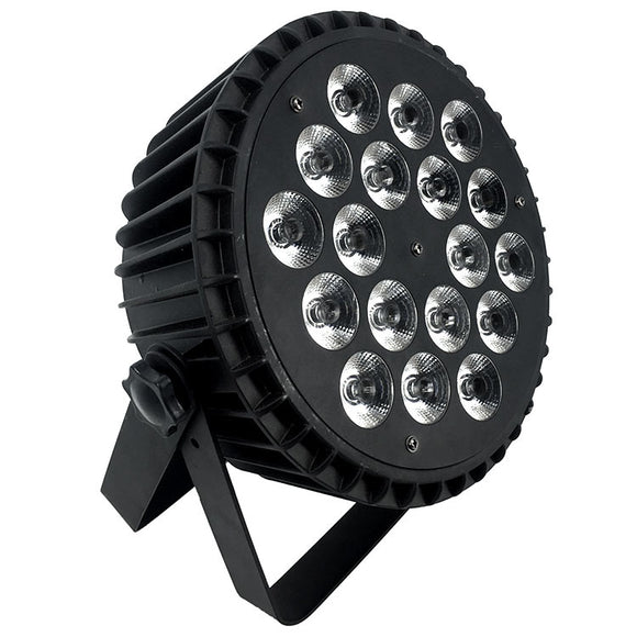 1 Lot (4pcs) OPPSK 18x15W Silent Operation Slim Stage Light RGBWA 5in1 Aluminum LED Flat Par Light