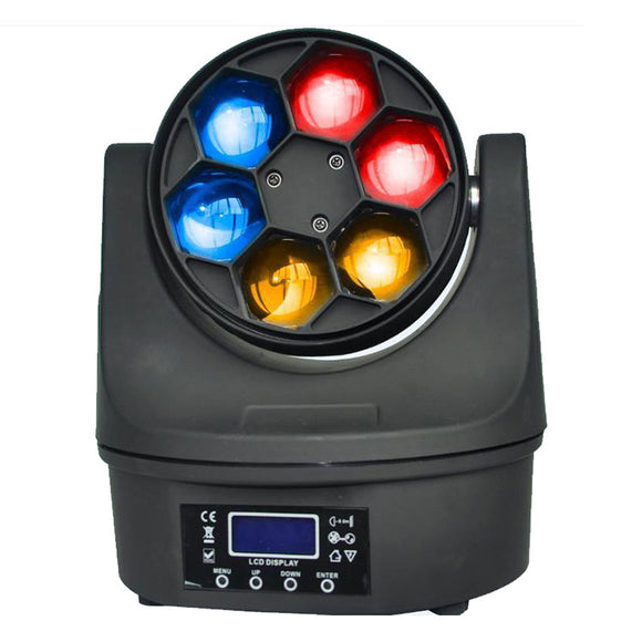 4-Pack, OPPSK 6x15W Big Bee Eye RGBW 4in1 90W LED Professional Show lighting Sharpy Beam Moving Head Light