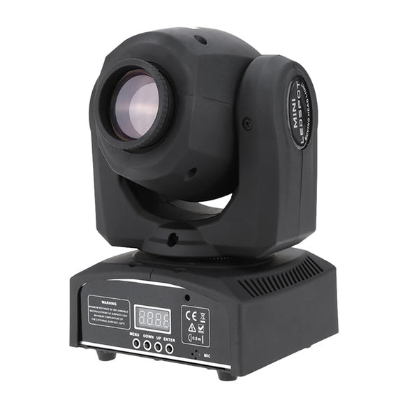 30W LED Mini Moving Head Spot Light for Mobile DJ Stage Lighting