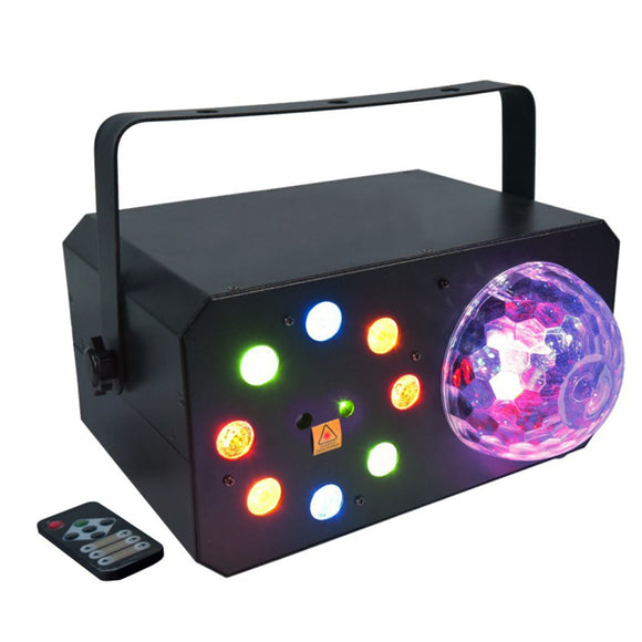 60W RGBA LED Strobe Chase Light RGBWAP Magic Ball Dome Red Green Laser Projector Multi-Effect DJ Lighting for Party Club KTV