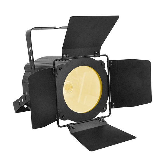 4-Pack, 200W Warm White Cold White 2in1 COB LED Par Stage Light with Barn Doors for Theatre Church Wedding