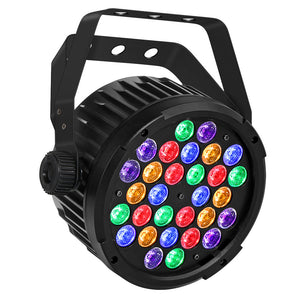 12-Pack, OPPSK 30x3W RGBAUV Multi Color LED Par Can Stage Lighting