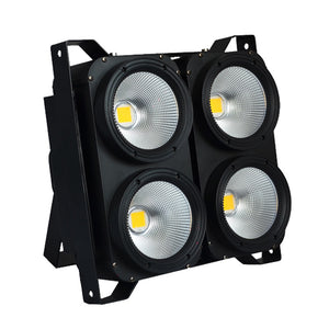 400W COB Warm White Cold White 2in1 4 Eyes Indoor Aluminum Audience Blinder Led Stage Light for TV Show