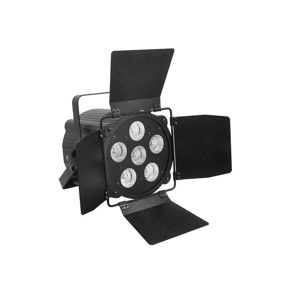 6x30W RGBWA UV 6in1 LED COB Theatre Par Light DJ Concert Church Stage Lighting with Barn Doors