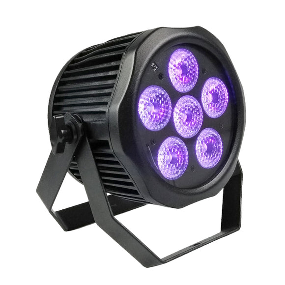 6x12W 6in1 RGBWA UV Wireless 2.4G DMX IP65 Floor Uplight Waterproof Battery Powered LED Par Light