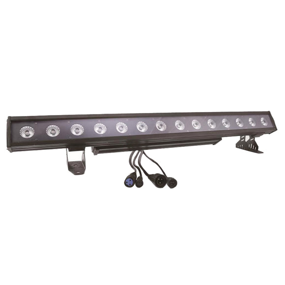 4-Pack, OPPSK 14x30W RGBWA 5in1 Pixel Control Aluminum Outdoor DMX LED Wall Washer Light Bar for Architectural Lighting